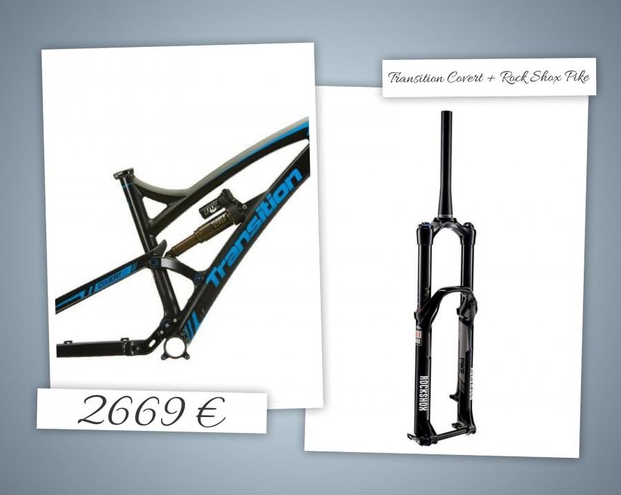 2014 Transition Bikes Covert Carbon Rahmen + Rock Shox Pike Grösse: M-