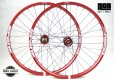 Spank Oozy Trail 395 AL EVO Laufradsatz mit Hope Pro 4 EVO Fatsno Naben / FatBike